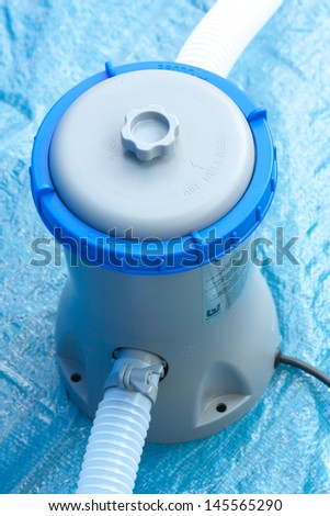 pump with a filter for water treatment in a pool