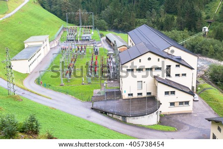 Pumped storage plant  - stock photo