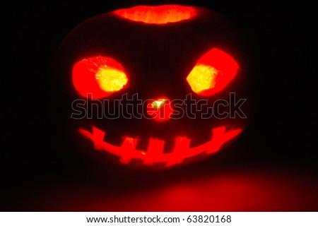 Pumpkin at night - stock photo