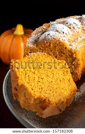 Pumpkin cake - stock photo