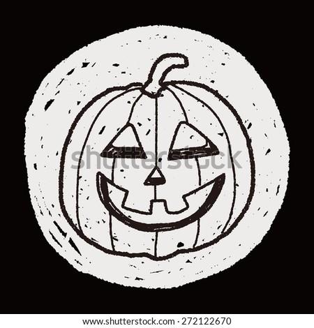 pumpkin doodle - stock photo