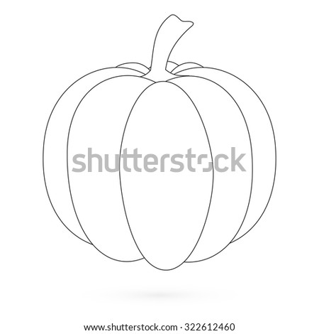 Pumpkin. Flat Design Style. Raster illustration 2 - stock photo