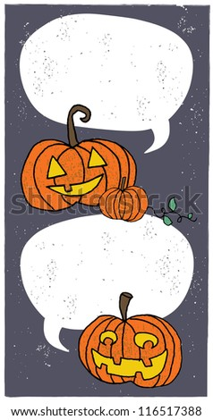 Pumpkin Greeting - stock photo