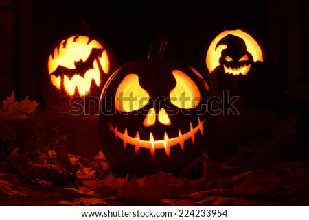 pumpkin halloween - stock photo
