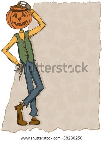 Pumpkin Head Jones  - Raster version - stock photo