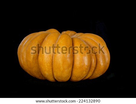 Pumpkin  isolated on black - stock photo