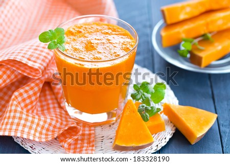 Pumpkin juice - stock photo