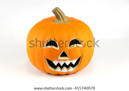 pumpkin lantern for Halloween isolated on white background