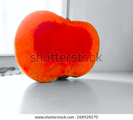 Pumpkin object. - stock photo