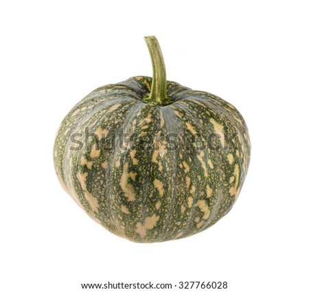 pumpkin over white background - stock photo