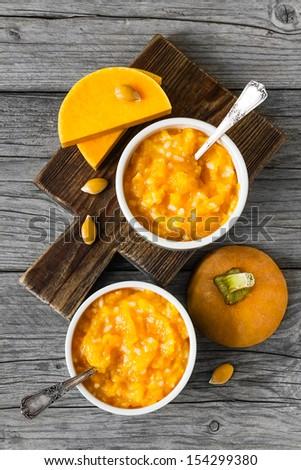 Pumpkin porridge - stock photo