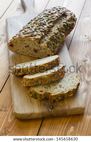 Pumpkin Seed and Cranberry Bread