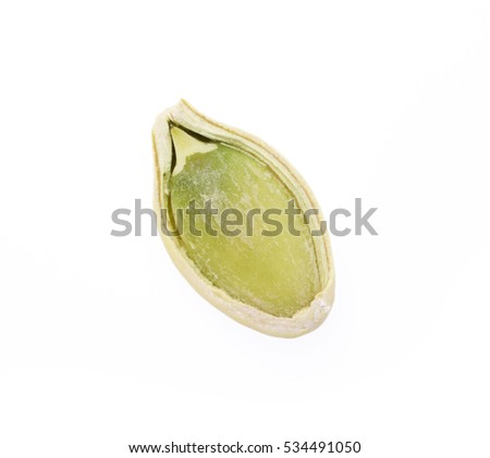 Pumpkin seed isolated on the white backgroundc