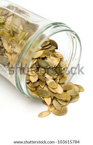 pumpkin seed isolated on white