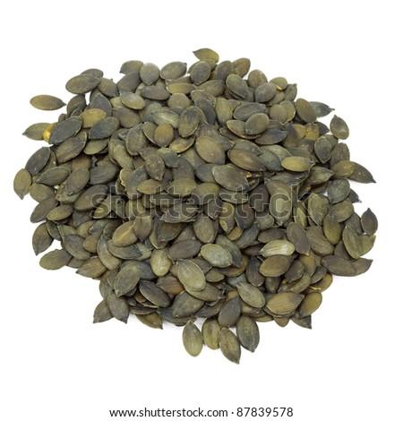 Pumpkin Seeds Cutout - stock photo