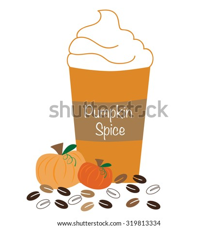Pumpkin Spice Whipped Coffee - stock photo