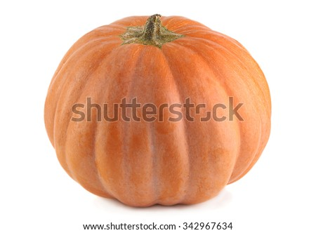 Pumpkin vegetable isolated on white background - stock photo