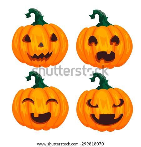 pumpkins for Halloween - stock photo