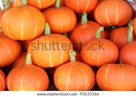 Pumpkins for sale at local market.