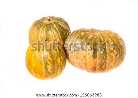 Pumpkins on a white background, isolated