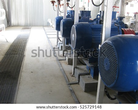 Pumps for water. Equipment for primary oil refining.