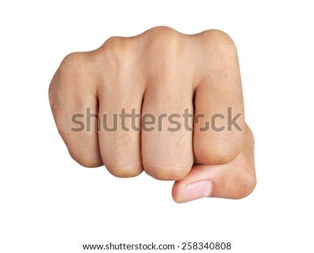 punch fist isolated is on a white background