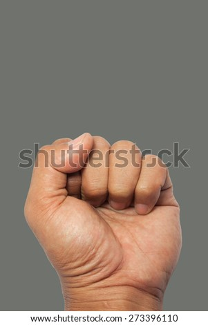 Punch Fist of Fight - stock photo
