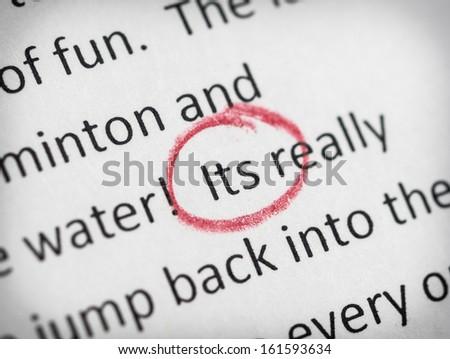 Punctuation mistake - stock photo