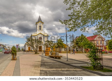 PUNTA ARENAS-NOV 27, 2015:. Punta Arenas is a city near the tip of Chile's southernmost Patagonia region. Located on the Strait of Magellan, which connects the Atlantic and Pacific oceans. (CHILE)