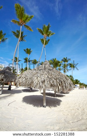 Punta Cana beach. Tropical resort. - stock photo