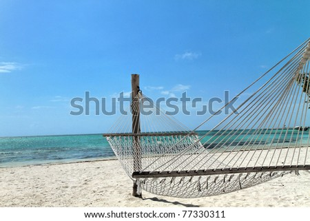 Punta Cana in Dominican Republic : beaches and blue water - stock photo