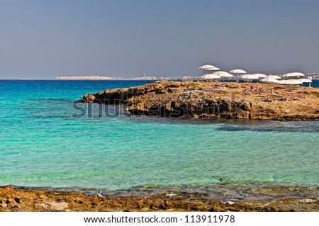 Punta della Suina resort in Salento, Apulia. Italy. - stock photo