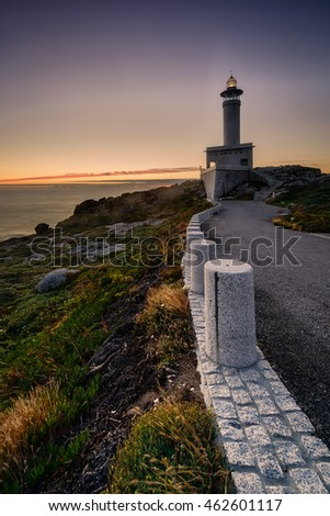 Punta Nariga lighthouse in northwestern Spain