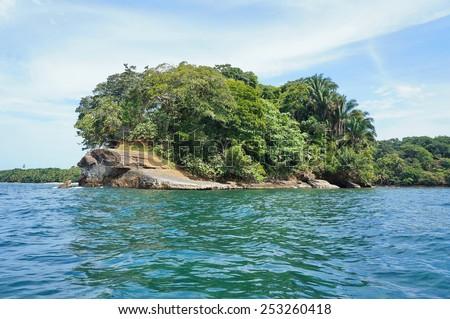 Punta Uva on the Caribbean coast of Costa Rica, Puerto Viejo de Talamanca, Central America - stock photo