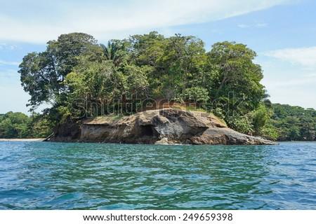 Punta Uva on the Caribbean shore of Costa Rica, Puerto Viejo de Talamanca, Central America - stock photo