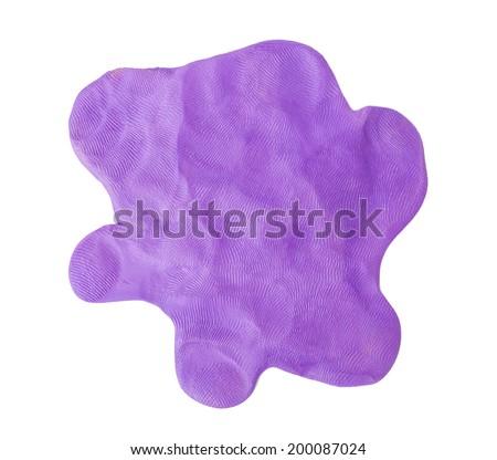 Puple plasticine texture  on white background - stock photo