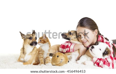 Puppy and girl