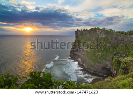 Pura Uluwatu temple on Bali island in Indonesia