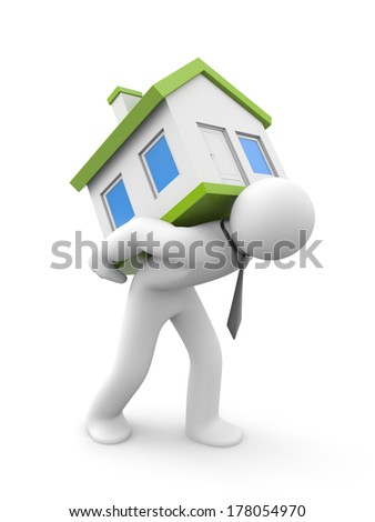 Purchase - sale of real estate - stock photo