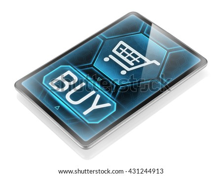 Purchasing on internet (image is not 3D rendering)