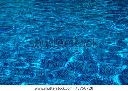 Pure blue water in the pool. Water background.