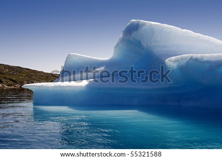 Pure ices of Greenland - stock photo