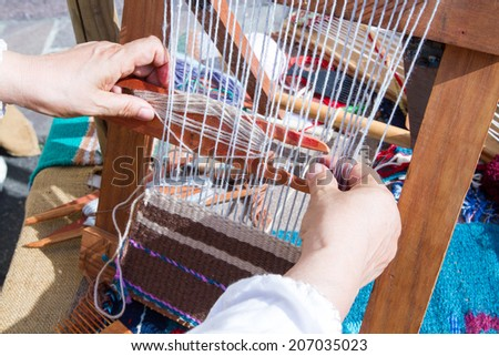 pure sheep wool wool processing and weaving ancient looms ancient crafts historic medieval festival