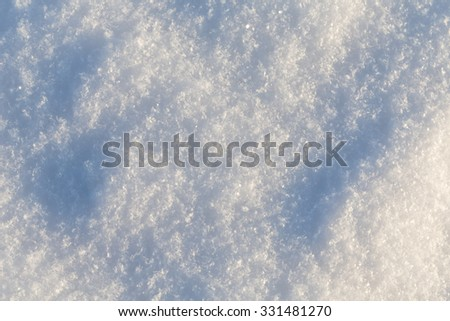 Pure snow texture - cold winter shot - stock photo