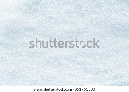 Pure snow texture in blue tone - stock photo