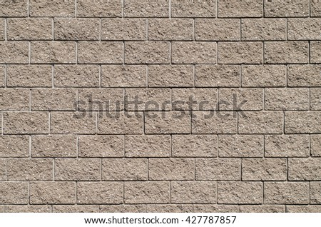 Pure wall of stone blocks. Background, texture series
