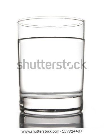 Pure water in Glass White background