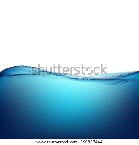 Pure water. Natural background. Stock illustration. - stock photo
