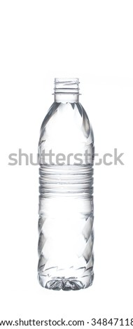 purified water bottle isolated on white background
