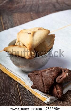 Purim Hamantaschen Cookies - stock photo